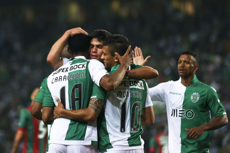 Sporting celebra golo frente ao Marítimo