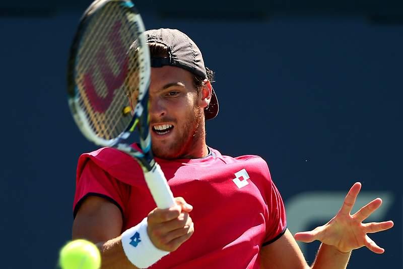 João Sousa em ação no US Open