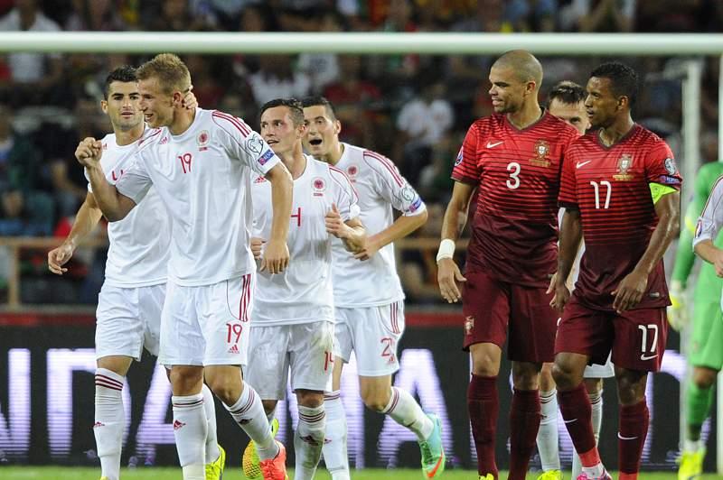 Balaj explicou sorriso de Pepe após o golo da Albânia