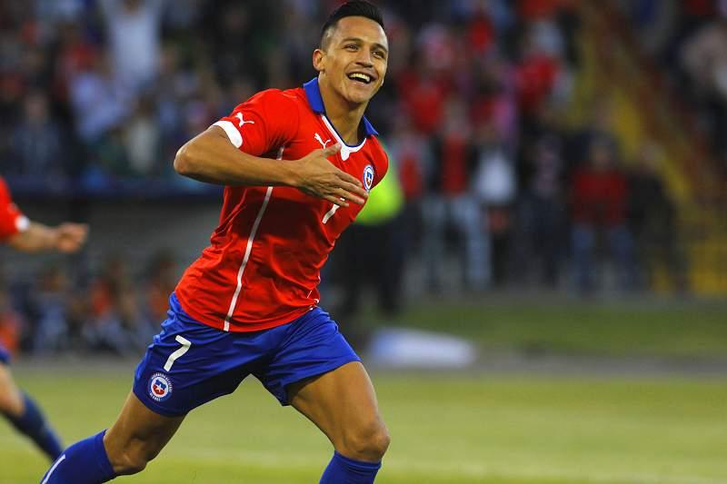 Alexis Sanchez faturou diante da Venezuela