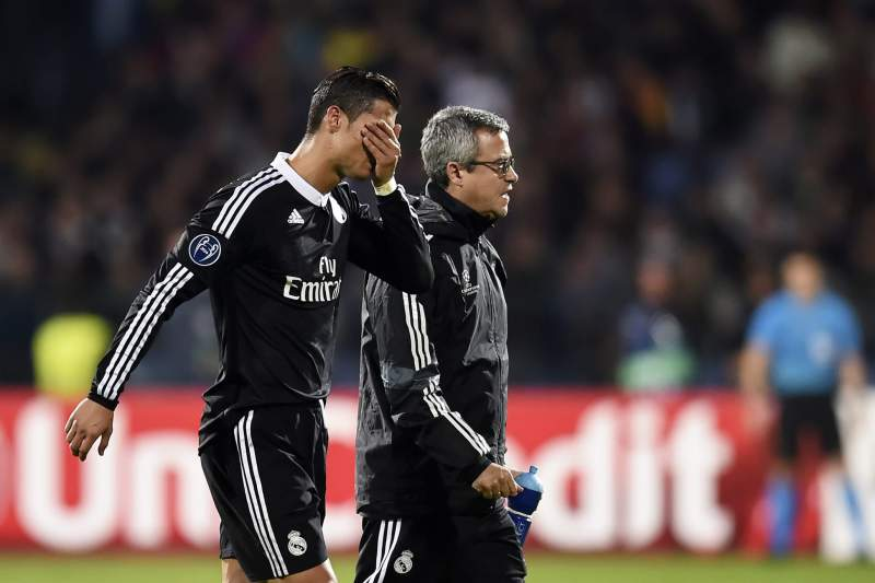 Ronaldo sai a coxear no encontro com o Ludogorets