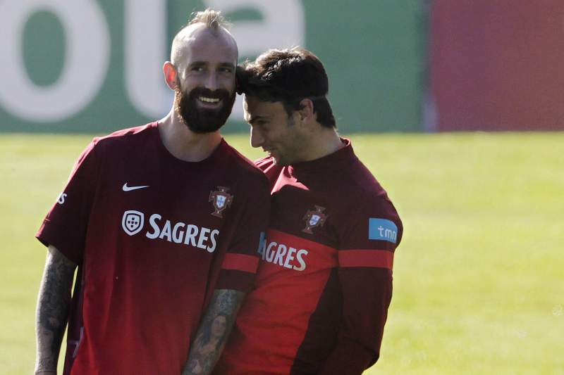 Portugal's national soccer team trainings