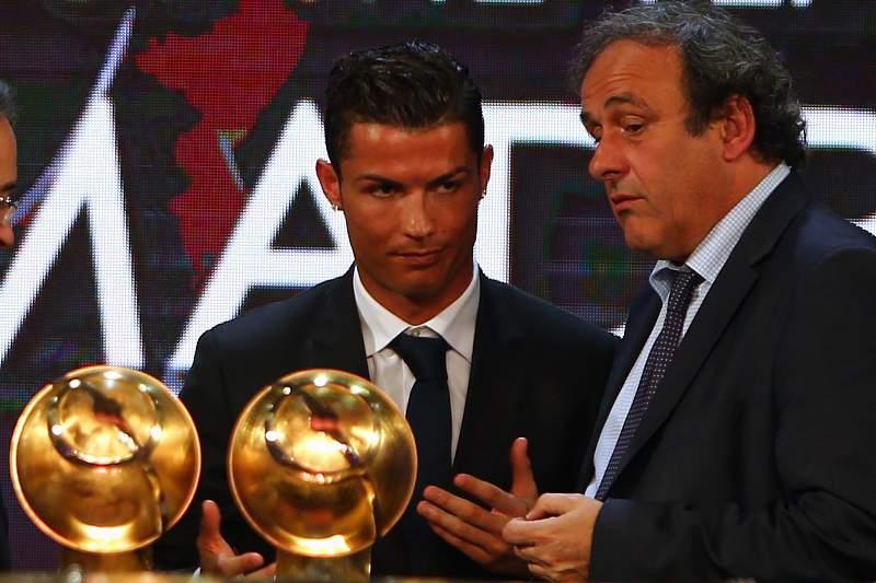 Michel Platini e Ronaldo