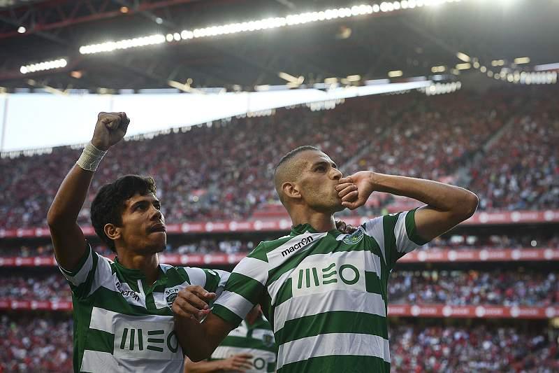 Slimani marcou o golo do Sporting na Luz