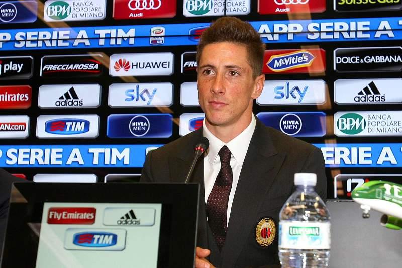 Apresentação de Fernando Torres no AC Milan