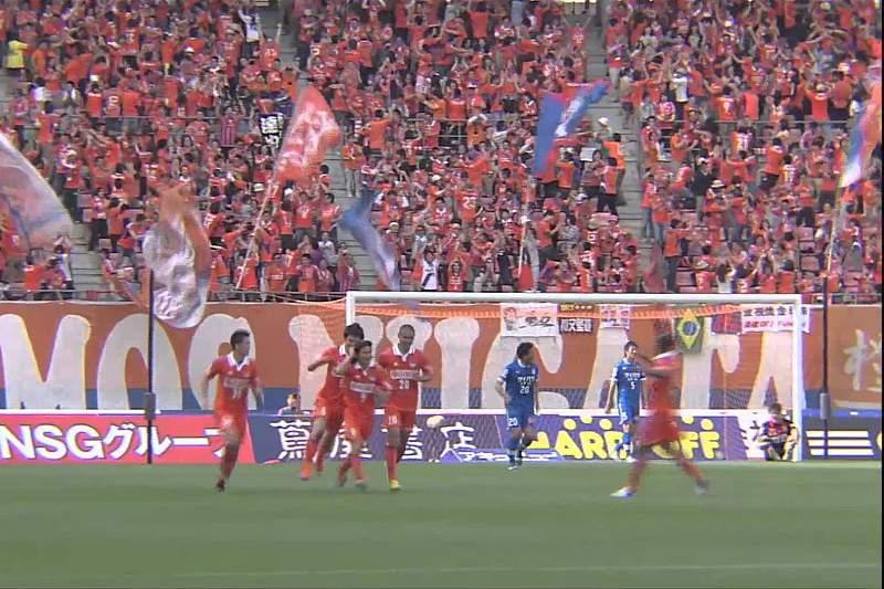 Minúcia brasileira em golo de livre no Japão