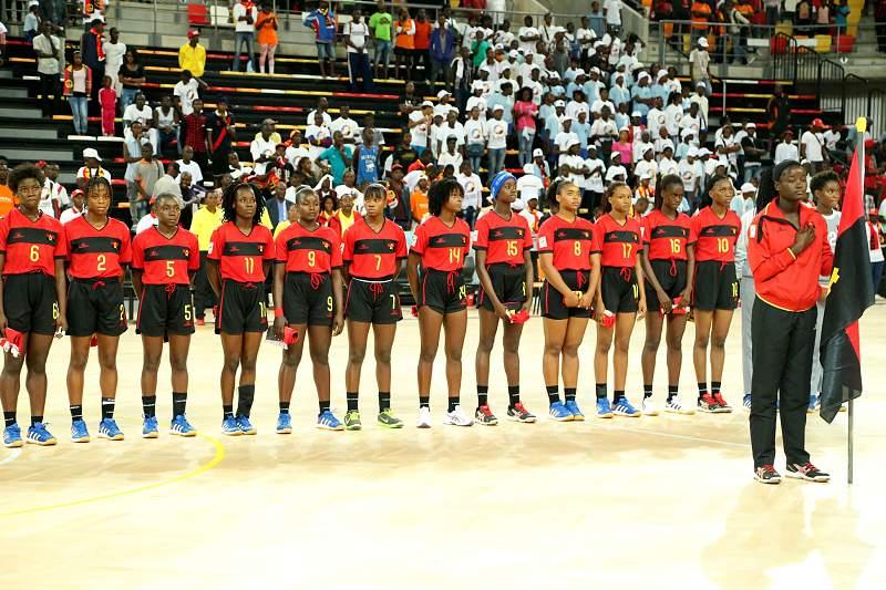Equipa de andebol de Angola em sub-16
