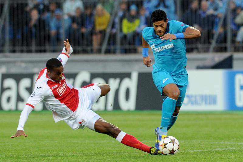 Hulk marcou dois golos na vitória do Zenit por 3-0