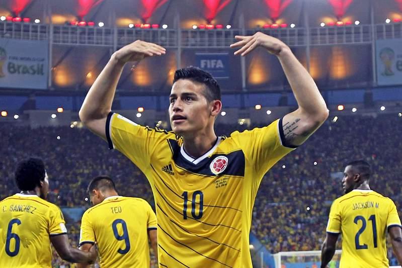 James Rodriguez foi o melhor marcador do Mundial2014