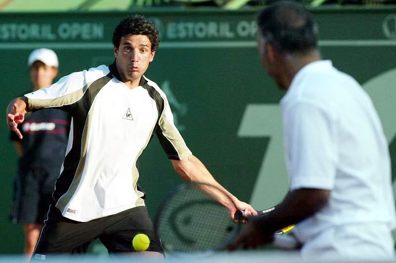 Imagem de arquivo de Nuno Marques enquanto tenista