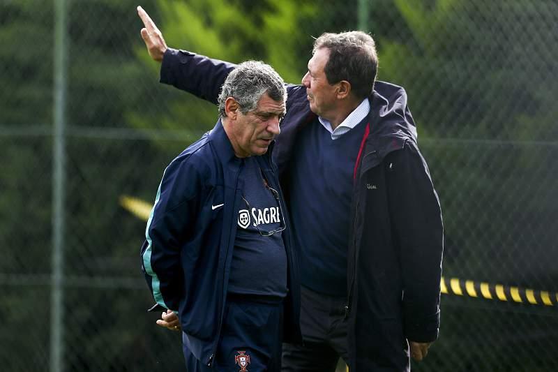 Fernando Santos e Humberto Coelho no Funchal para
