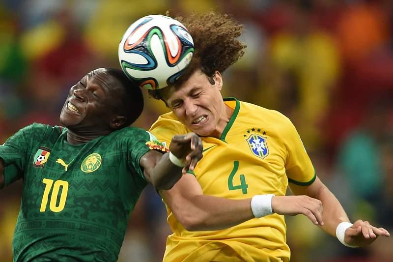 Aboubakar e David Luiz