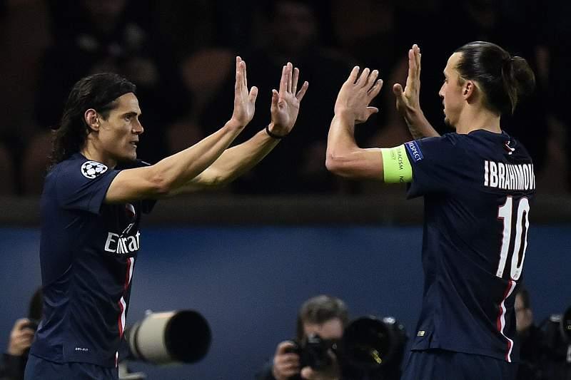 Cavani e Zlatan Ibrahimovic