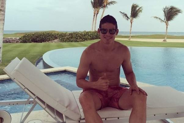 James Rodriguez de férias