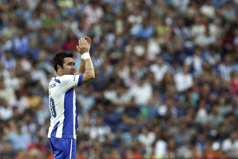 Tribute to former player Deco, friendly soccer match FC Porto vs Barcelona