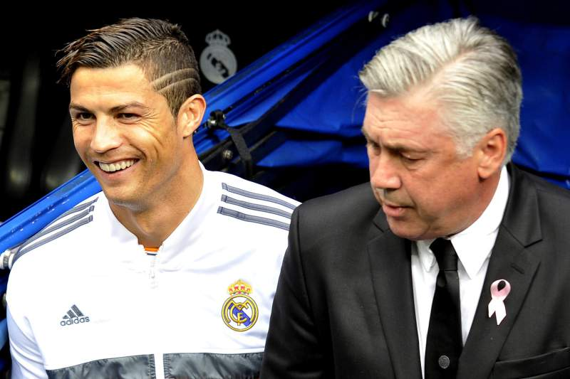 Ronaldo e Ancelotti