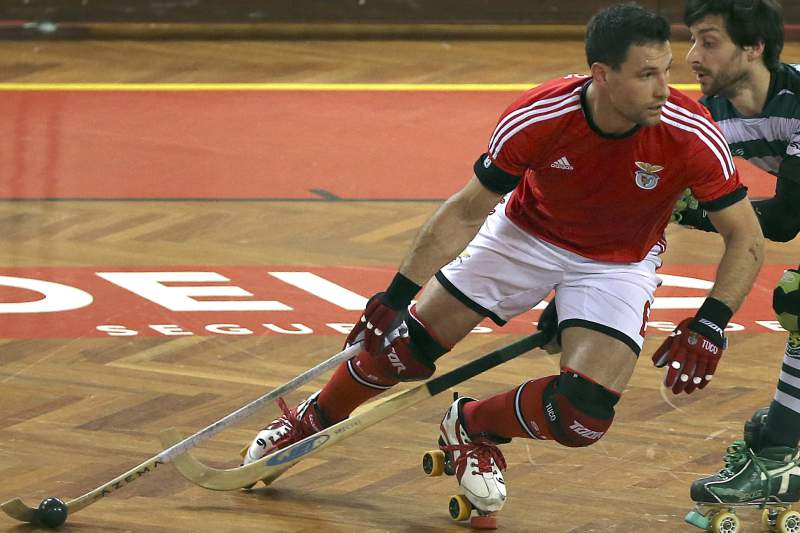 João Rodrigues em ação contra o Sporting
