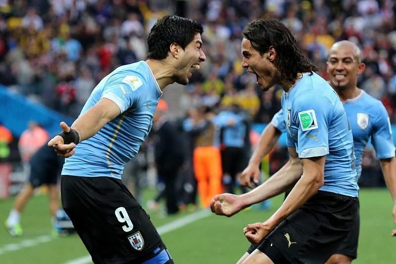 Cavani e Suárez, dupla de ataque da seleção do Uruguai