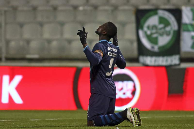 Jackson celebra golo diante do Moreirense