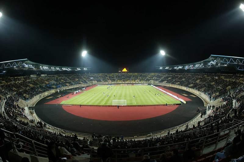Estádio de futebol na Grécia