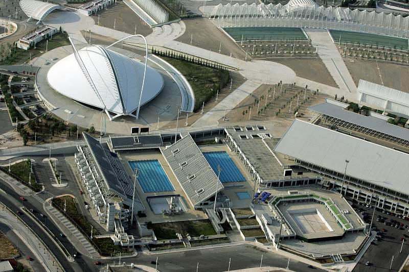 Imagem do Centro Aquático dos Jogos Olíimpicos Atenas2004