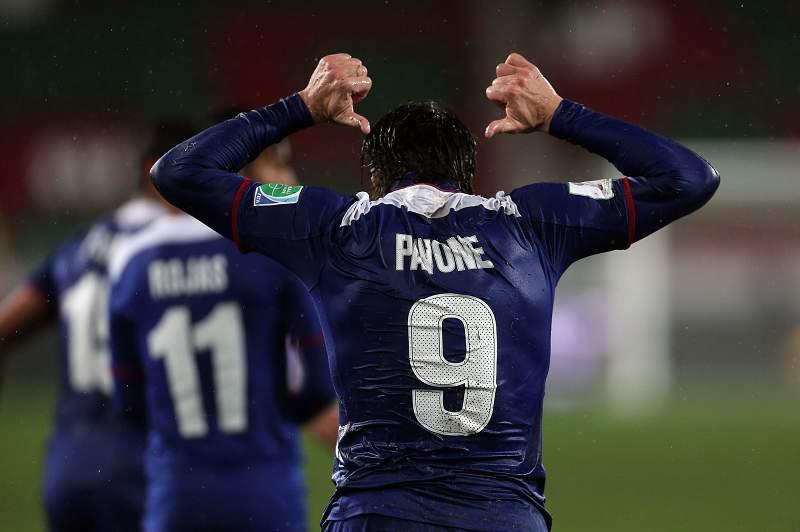 Hugo Pavone celebra o golo marcado