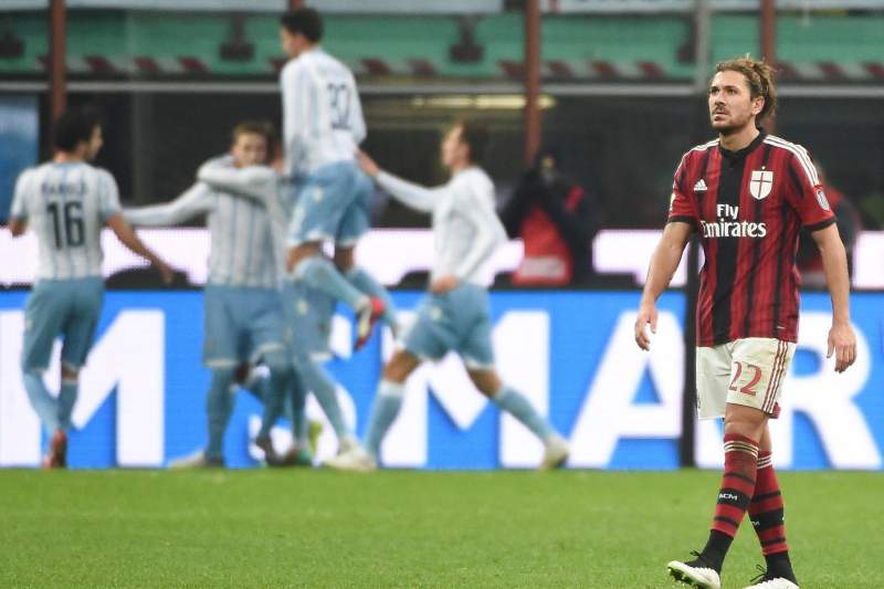 Alessio Cerci desolado com o golo da Lazio