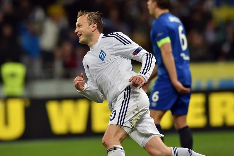 Oleg Gusev celebra um golo na Liga Europa