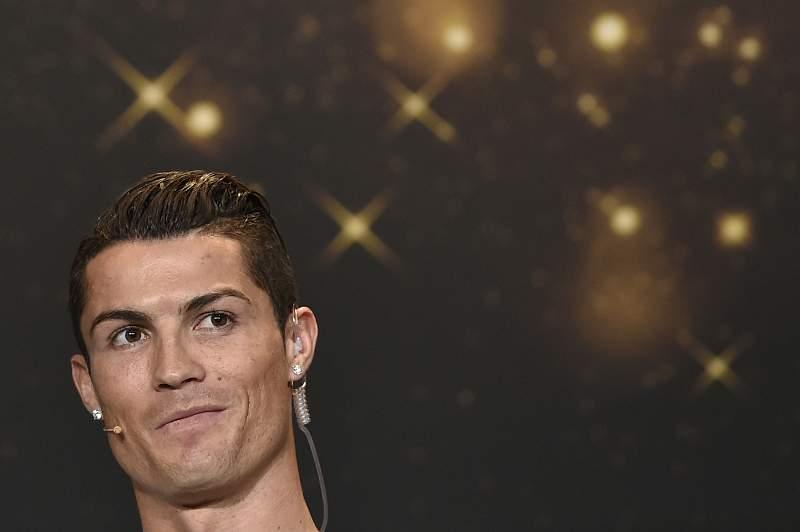 Cristiano Ronaldo na Gala FIFA para a atribuição da Bola de Ouro 2014