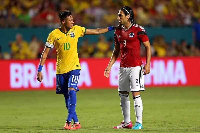 Falcao e Neymar