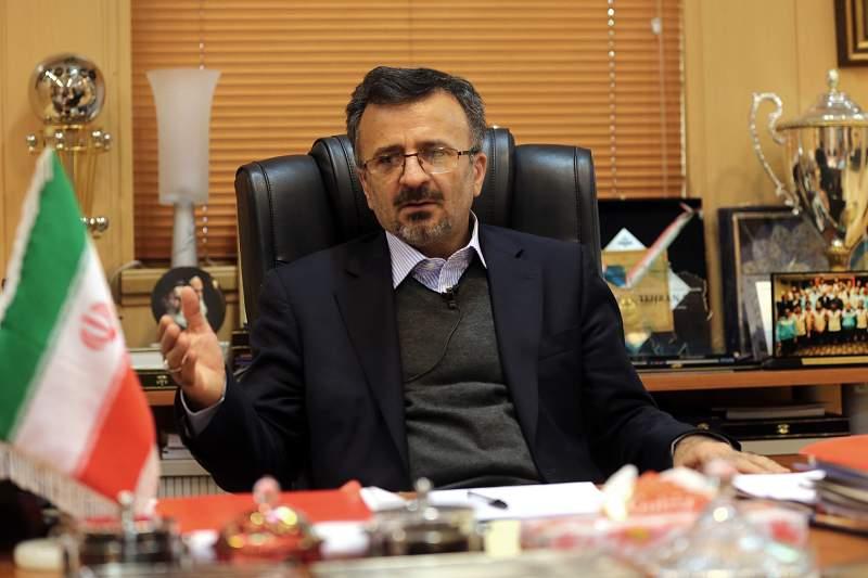 Mohammad Reza Davarzani, presidente da Federação Iraniana de Voleibol