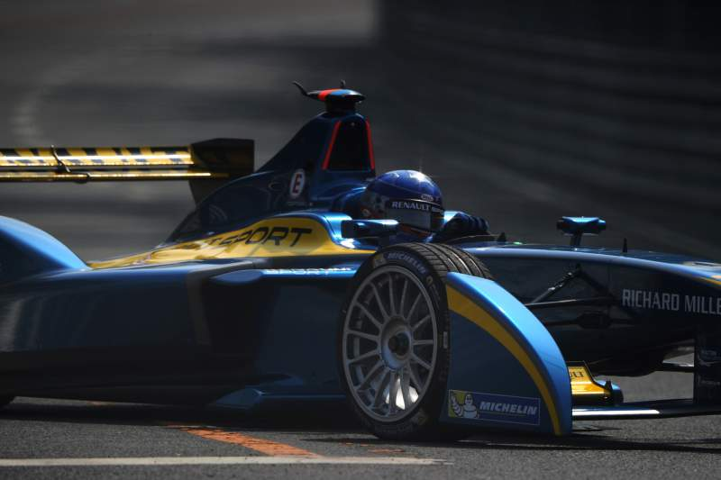 Nicolas Prost takes a turn during the qualifying session at the circuit near the Bird's Nest stadium in Beijing