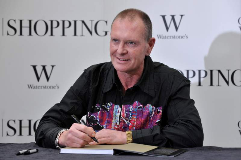 Former England football player, Paul Gascoigne signs copies of his latest book 'Glorious' in Canary Wharf, east London on October 13, 2011. AFP PHOTO / BEN STANSALL