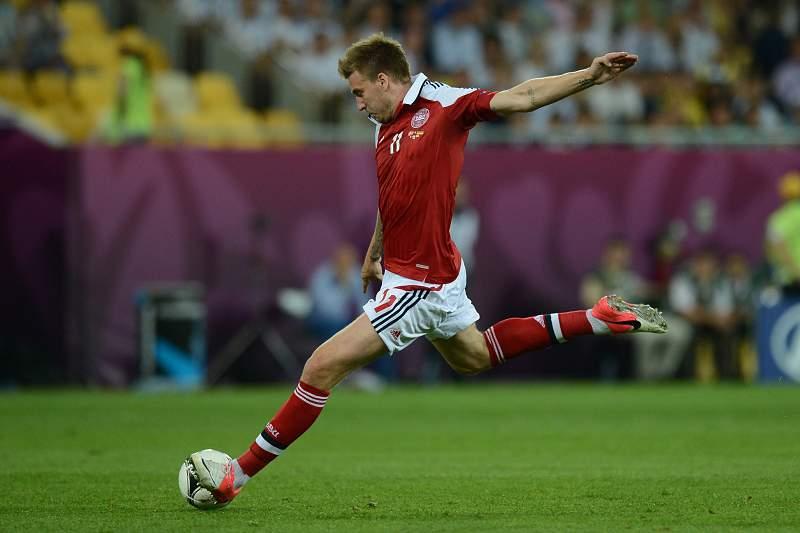 Bendtner em ação durante o Euro2012
