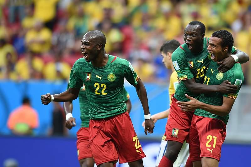 Aboubakar celebra um golo ao serviço dos Camarões