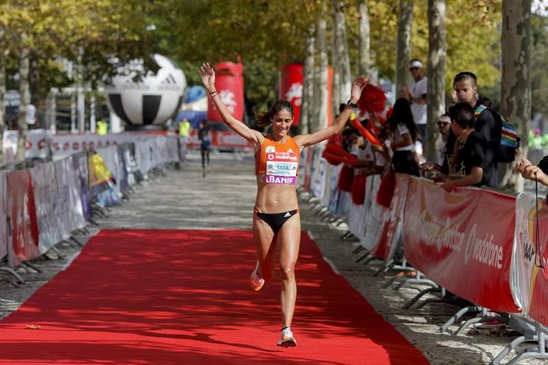Sara Moreira na Maratona de Lisboa