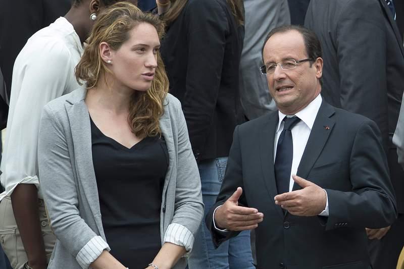 Camille Muffat com o presidente da França François Hollande