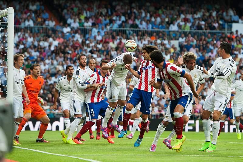 Tiago marca no Real Madrid-Atlético Madrid
