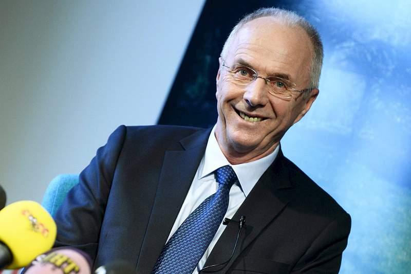 Sven-Goran Eriksson na apresentação do seu livro