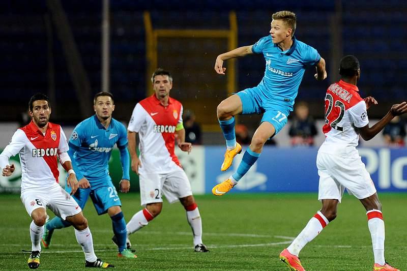 Zenit e Mónaco em disputa