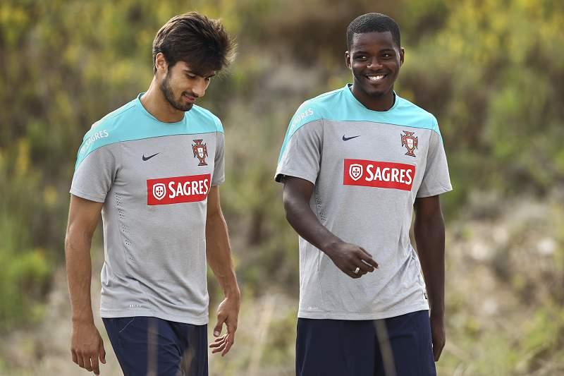 Portugal's national soccer team training
