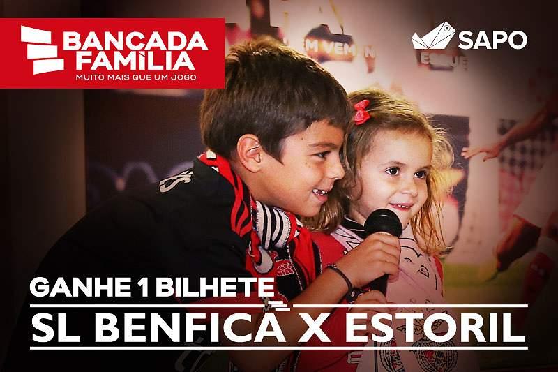 Passatempo Bancada Família: Leve a família a ver o Benfica Estoril