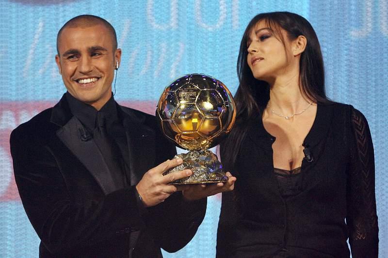 Fabio Cannavaro e Monica Bellucci