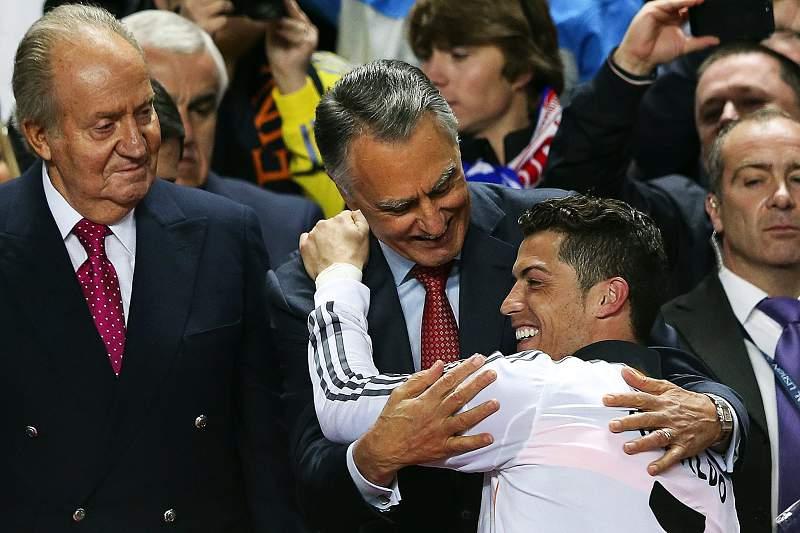 Cavaco Silva e Cristiano Ronaldo