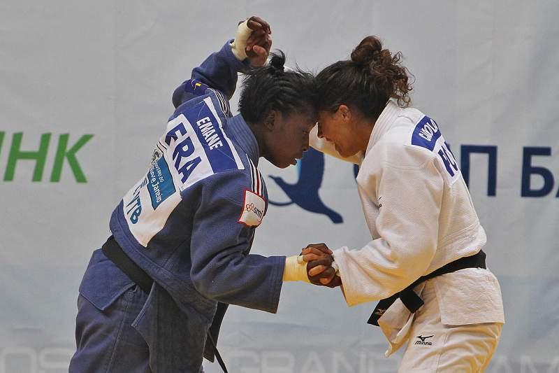 Judoca Ana Cachola em ação