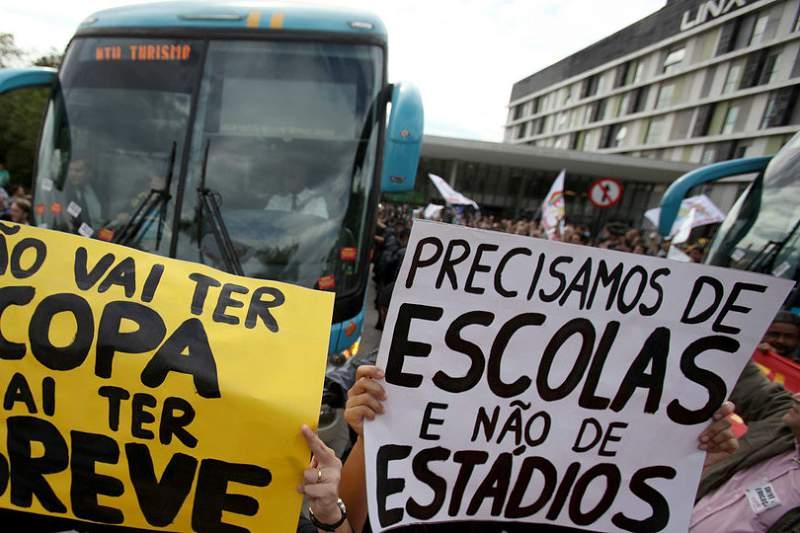 Manifestação Brasil Mundial 2014