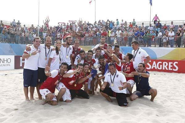 Braga bicampeão nacional de futebol de praia