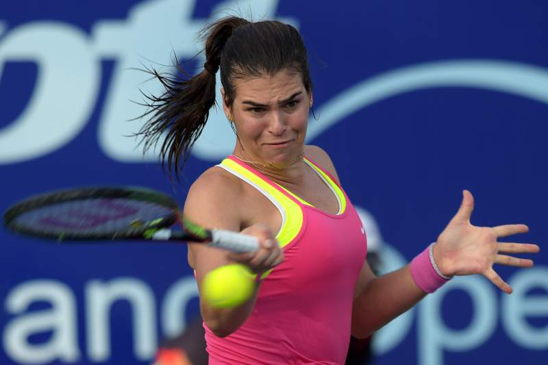 Daniela Hantuchova em ação no torneio de Pattaya, na Tailândia