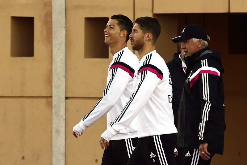 Ronaldo, Sergio Ramos e Ancelotti
