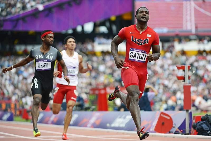 Justin Gatlin em destaque nos 100 metros